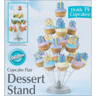 Cupcake Flair Dessert Stand12inX18in Holds 19 Cupcakes