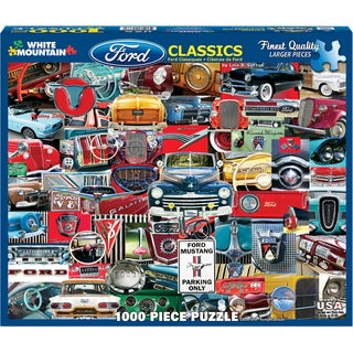 Jigsaw Puzzle 1000 Pieces 24inX30inClassic Fords