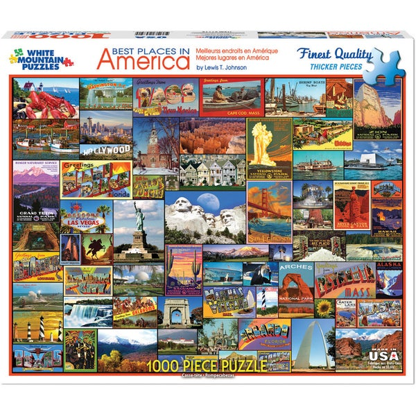 Jigsaw Puzzle 1000 Pieces 24inX30inBest Places In America