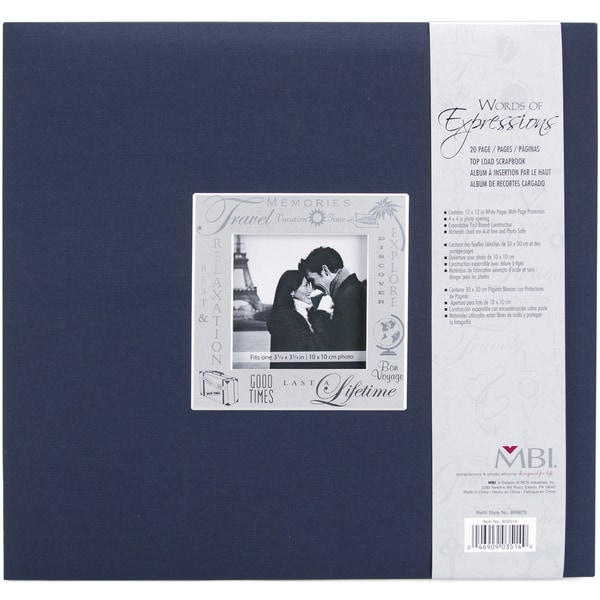 Expressions Post Bound Album 12inX12inTravel Navy