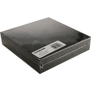 Medium Weight Chipboard Sheets 6inX6in 25/PkgBlack