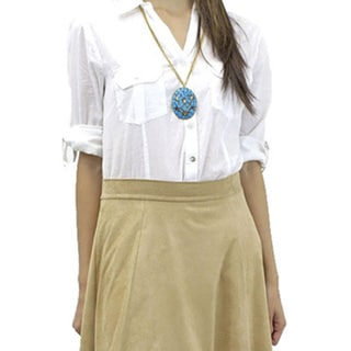 Relished Women's Caramel Skater Skirt
