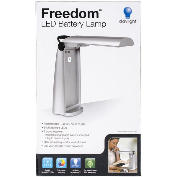 Freedom LED Rechargeable Battery LampSilver