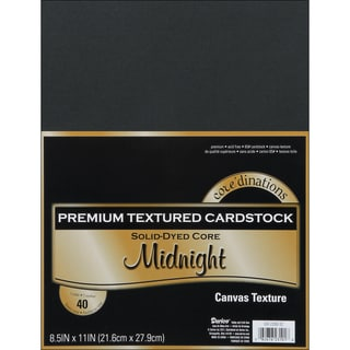 Core'dinations Value Pack Cardstock 8.5inX11in 40/PkgMidnight Textured