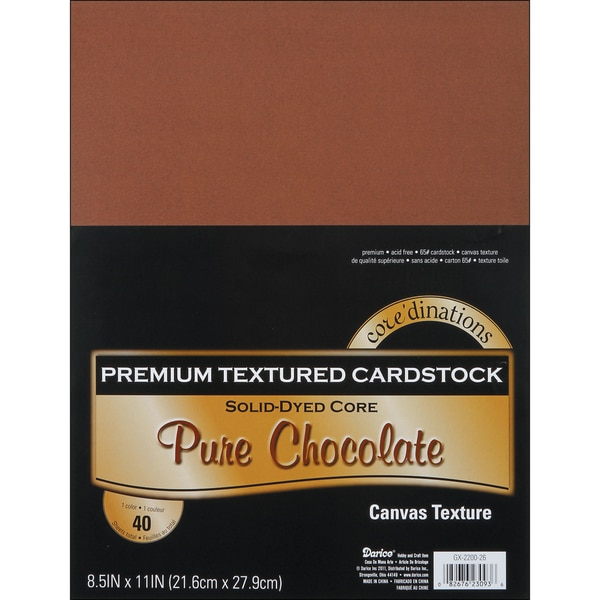 Core'dinations Value Pack Cardstock 8.5inX11in 40/PkgPure Chocolate Textured
