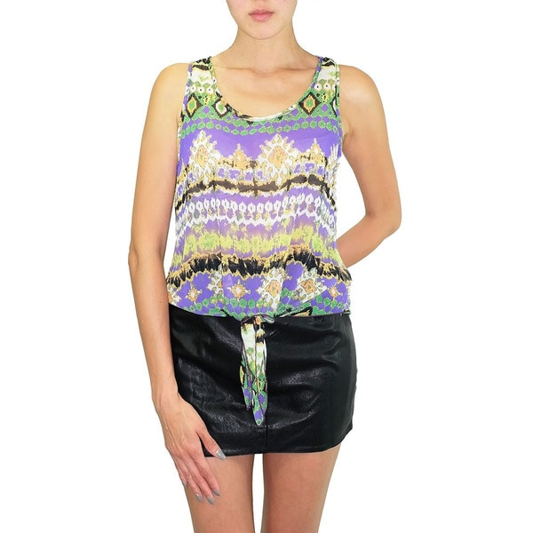 Relished Women's Neptune Chiffon Tie-front Top