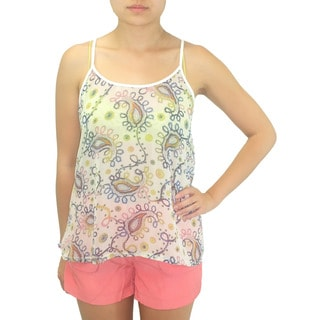 Relished Women's Paisley Vines Sketch Print Top