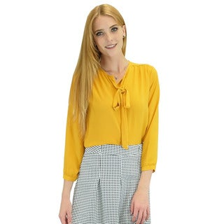 Relished Women's Contemporary Corinne Yellow Long Sleeve Blouse