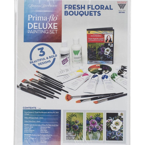 Donna Dewberry Deluxe Paint SetFresh Flowers Bouquet In Prima Flow