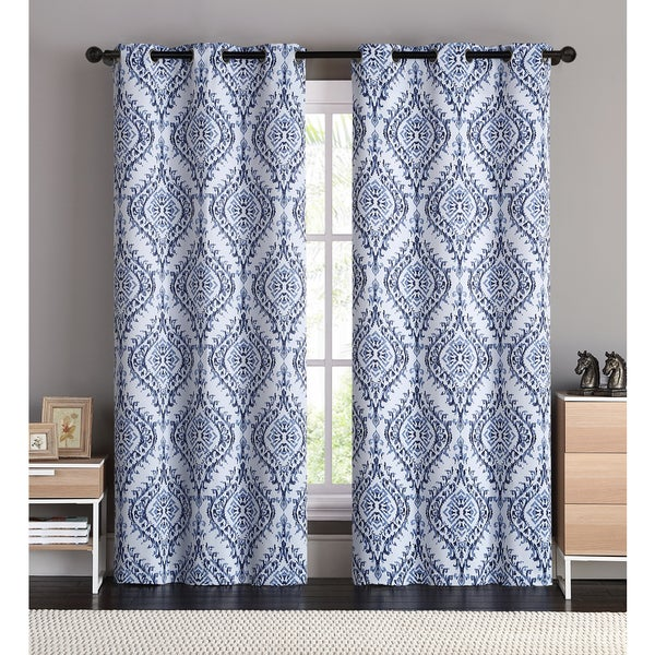 OVERSTOCK EXCLUSIVE VCNY London Blackout Curtain Panel Pair (As Is Item)
