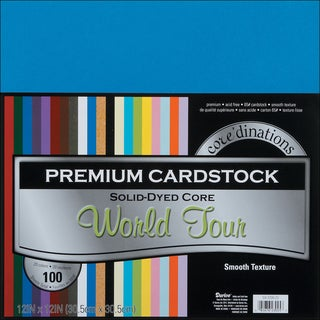 Core'dinations Value Pack Cardstock 12inX12in 100/PkgWorld Tour Smooth