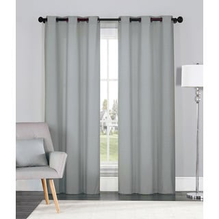OVERSTOCK EXCLUSIVE VCNY Annex Foam Back Soild Curtain Panel Pair