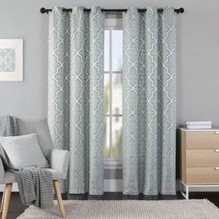 OVERSTOCK EXCLUSIVE VCNY Hudson Jacquard Curtain Panel Pair