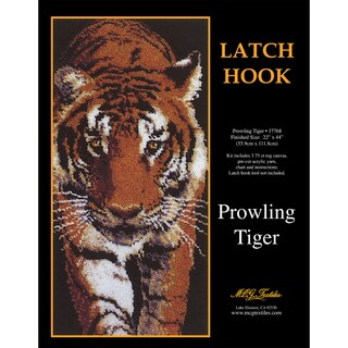 Latch Hook Kit 22inX44inProwling Tiger
