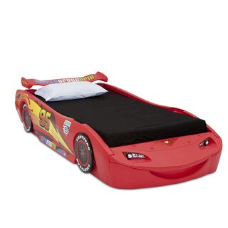 Cars Lightning McQueen Red Twin-size Bed with Headlights