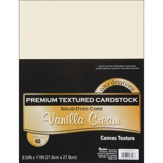 Core'dinations Value Pack Cardstock 8.5inX11in 40/PkgVanilla Cream Textured