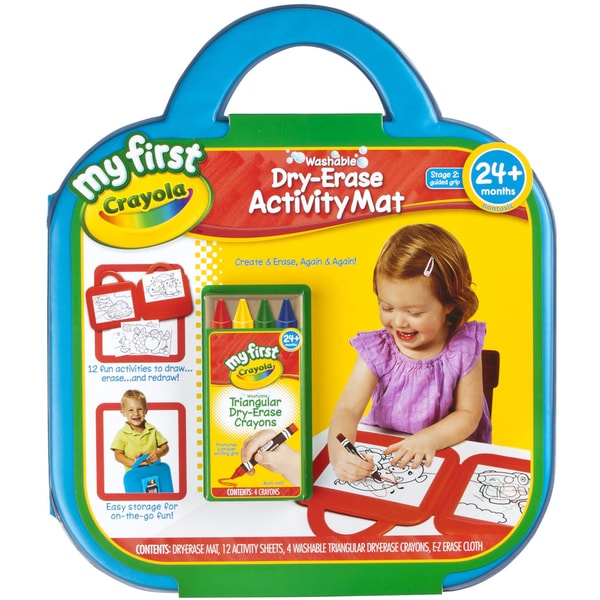 My First Crayola Washable DryErase Activity Mat