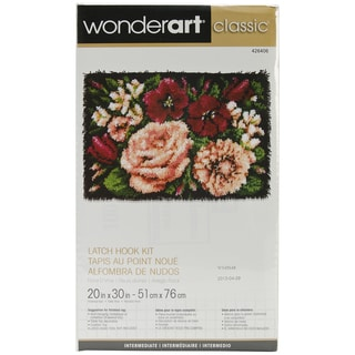 Wonderart Classic Latch Hook Kit 20inX30inFloral D'vine