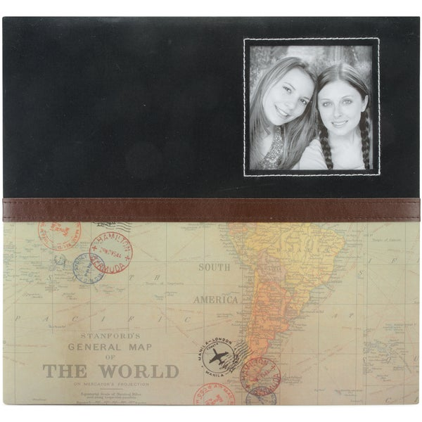 Travel Post Bound Album 12inX12in