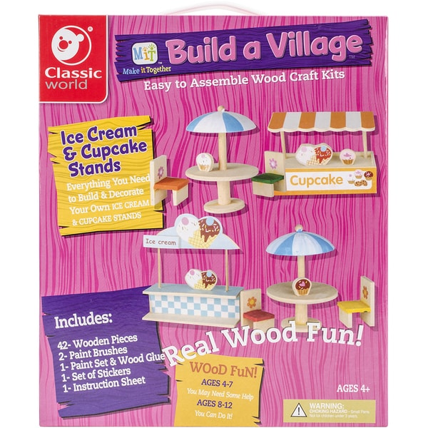 MIT Build A Village Wood Craft KitCupcake & Ice Cream Stands
