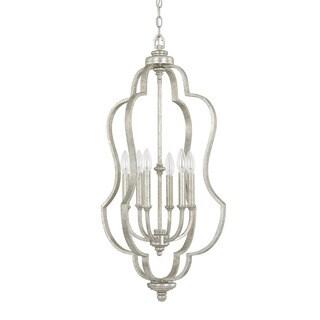 Capital Lighting Blair Collection 6-light Antique Silver Foyer Fixture