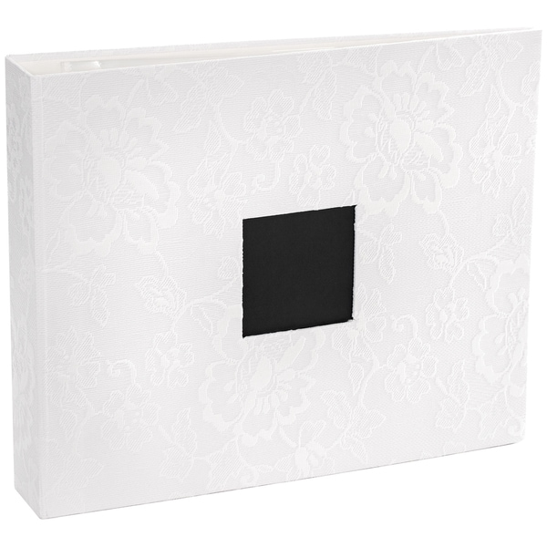 Patterned DRing Album 12inX12inWhite Lace