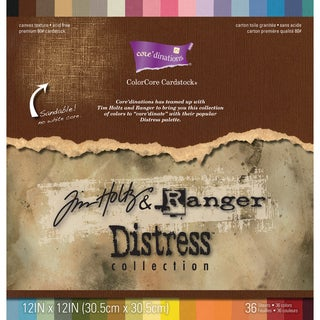 Core'dinations Distress Cardstock By Tim Holtz 12inX12in 36/Pk