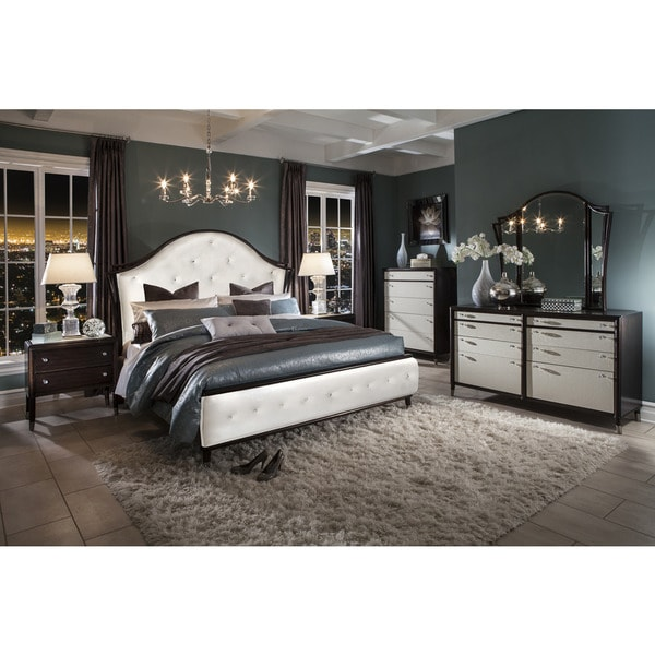 Magnussen B3059 Seventh Avenue Brown Finish Wood Complete Panel Upholstered Bed