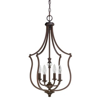 Leigh 4-light Burnished Bronze Foyer Fixture