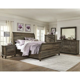 Magnussen B2590 Calistoga Grey Finish Wood Sleigh Bed