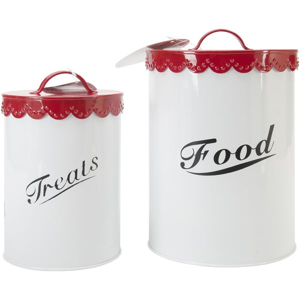 Food & Treat Canister Set Red