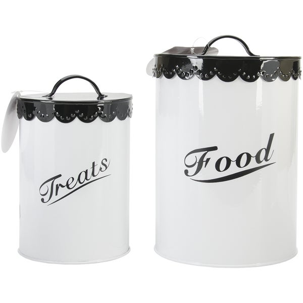 Food & Treat Canister Set Black