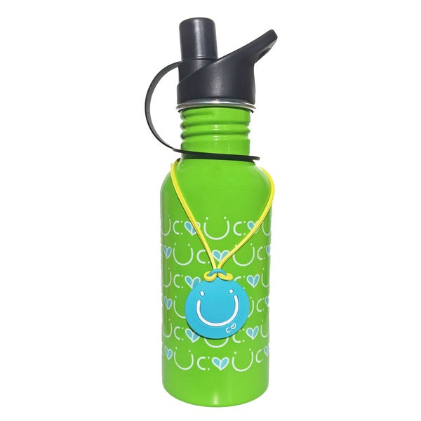 Happy 13.5-ounce Stainless Steel Water Bottle