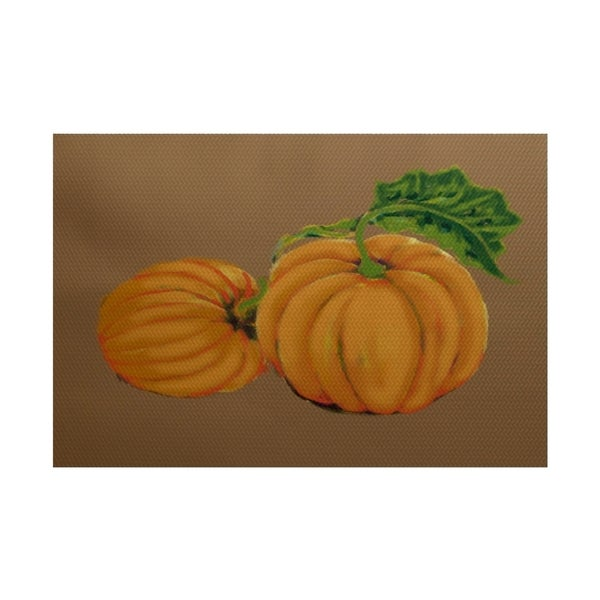 Pumpkin Patch Holiday Print Rug (2' x 3')