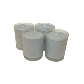 Cove House Candle Co 3-ounce Scented Blue Soy Votives (Set of 4)