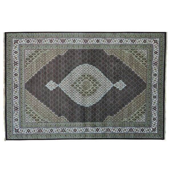 250 kpsi Tabriz Mahi Wool and Silk Handmade Oriental Rug (10' x 14'10)