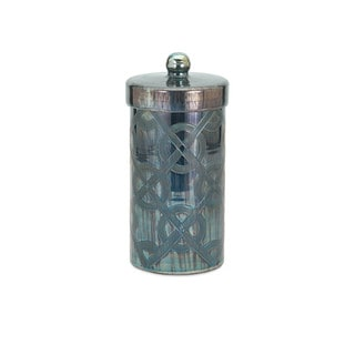 Piper Blue Small Etched Canister