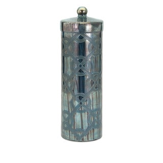 Piper Blue Large Etched Canister