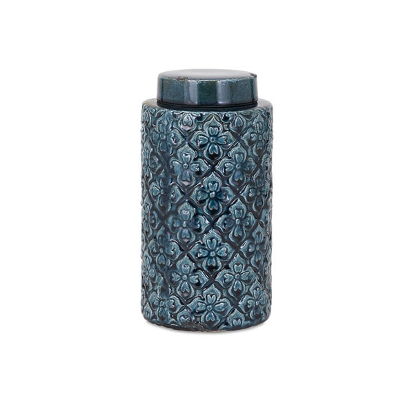 Iris Blue Medium Canister