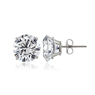 Icz Stonez 14k Gold 5mm 1ct TGW Round Cubic Zirconia Stud Earrings