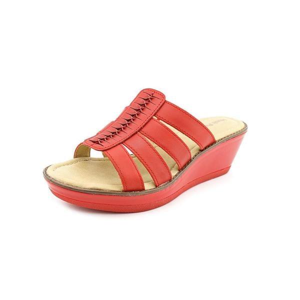 Hush Puppies Women's 'Roux Slide' Leather Sandals