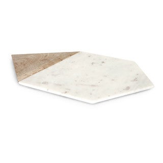 Verena Large Marble and Wood Cheese Board