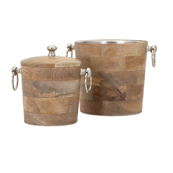 Makana Wood Bar Buckets (Set of 2)