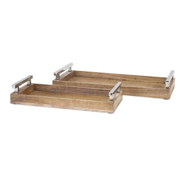 Marnie Wood Trays (Set of 2)