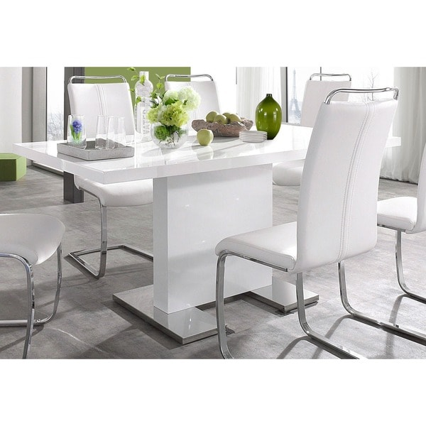 Summer White High Gloss Dining Table