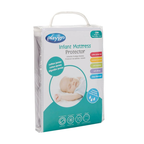 Cotton Jersey Crib Mattress Protector