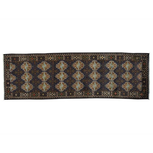 Runner Afghan Baluch Hand Knotted Oriental Rug (3'1 x 9'9)