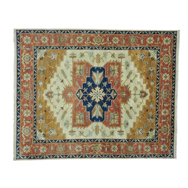 Serapi Heriz Vegetable Dyes Hand Knotted Oriental Rug (8' x 9'10) 16219728