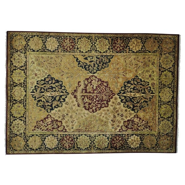 Rajasthan Tree Design Thick and Plush Hand Knotted Rug (10' x 14'2) 16219761