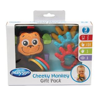 Playgro Neutral Cheeky Monkey Giftset